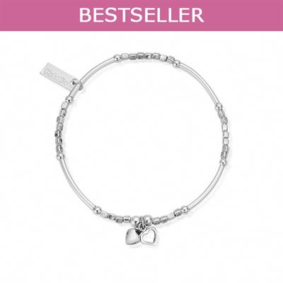 Buy ChloBo Mini Noodle Cube Double Heart Bracelet