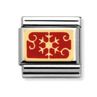 Buy Nomination Red Snowflake Vintage Charm