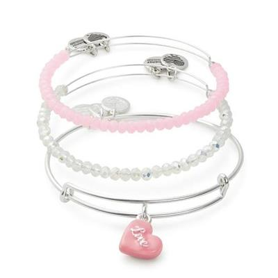 Buy Alex and Ani Sweet Set of 3 in Shiny Silver