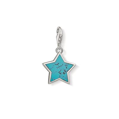 Buy Thomas Sabo Silver Turquoise Star Charm