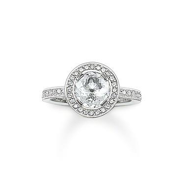 Buy Thomas Sabo Glam & Soul Round CZ Ring, 54