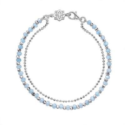 Buy Dower and Hall Sterling Silver Aquamarine Orissa Bracelet