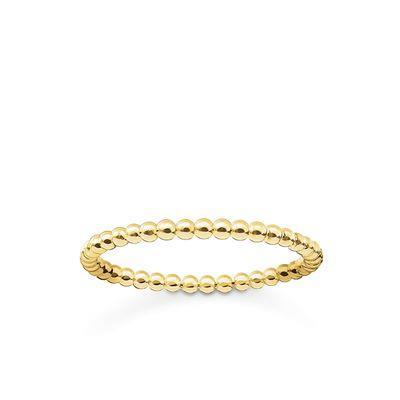 Buy Thomas Sabo Gold Slim Bobble Ring Size 48