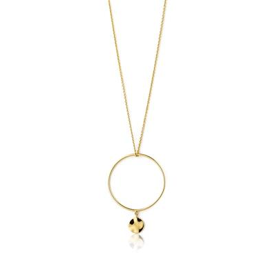 Buy Ania Haie Texture Mix Gold Double Circle Necklace