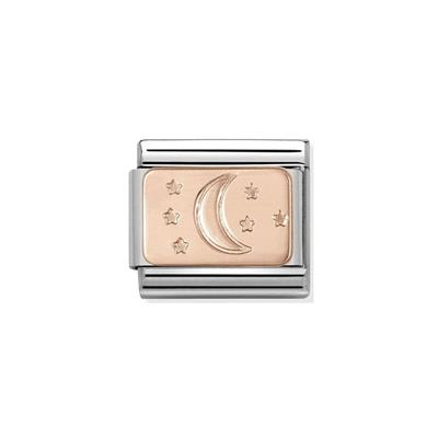 Buy Nomination Rose Gold Moon & Stars Plaque