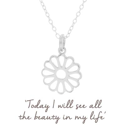 Buy Mantra Daisy Necklace in Silver