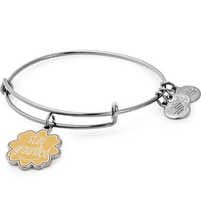 Buy Alex and Ani Stay Grounded Colour Infusion Bangle in Midnight Silver