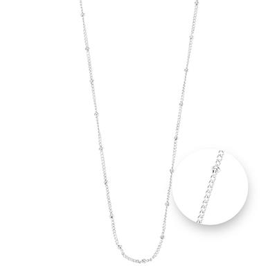 Buy Nikki Lissoni Silver Ball Chain Necklace 75cm