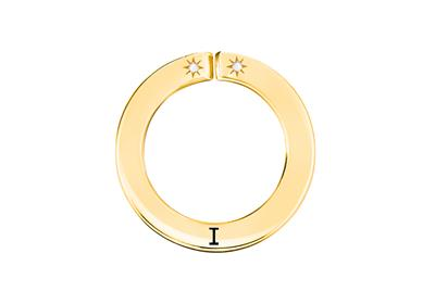 Buy Lily and Lotty Yellow Gold 'I' Scripted Pendant