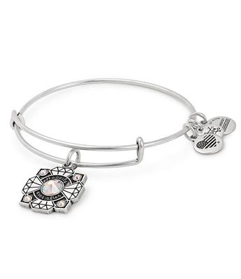 Buy Alex and Ani Bride Swarovski Bangle in Rafaelian Silver