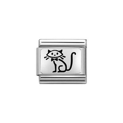 Buy Nomination Silver Sitting Cat Charm
