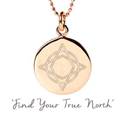 Buy Mantra Wanderlust True North Necklace in Rose Gold