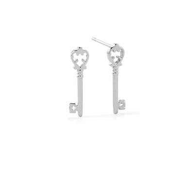 Buy Alex and Ani Skeleton Key Precious Studs in Silver