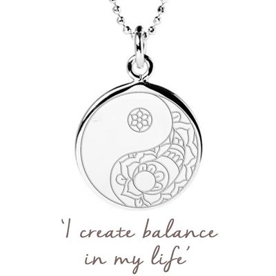 Buy Mantra Balance Yin Yang Disc Necklace in Sterling Silver