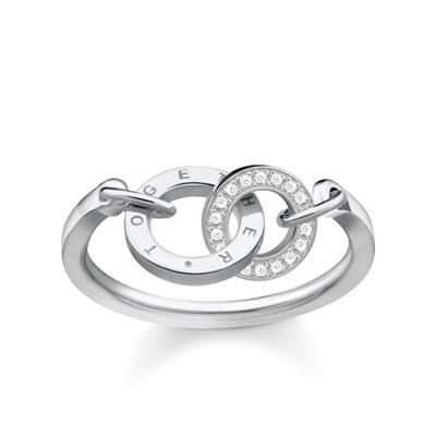 Buy Thomas Sabo Together Forever Silver & CZ Circles Ring Size 54