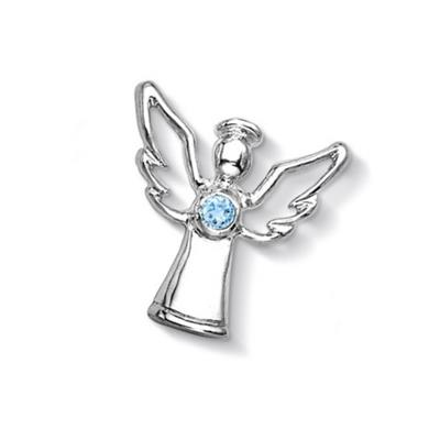 Buy Dower and Hall Silver Blue Topaz Guardian Angel Treasure