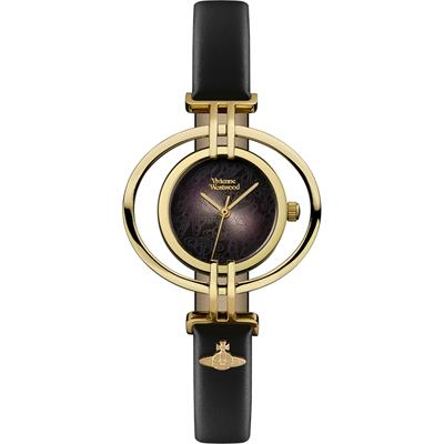 Buy Vivienne Westwood Oval Black and Gold Watch