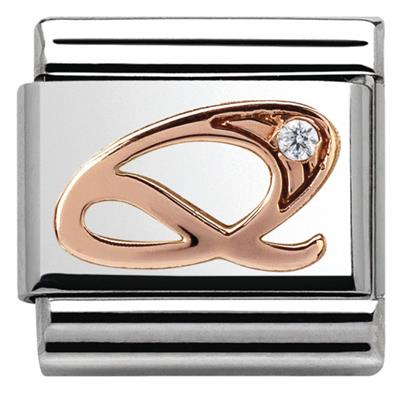 Buy Nomination Rose Gold CZ Letter Q