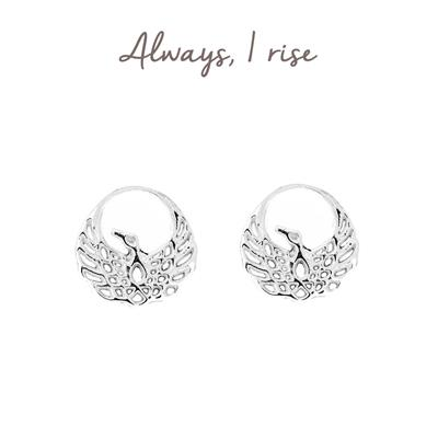 Buy Mantra Phoenix Stud Earrings in Sterling Silver
