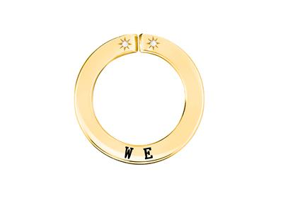 Buy Lily and Lotty Yellow Gold 'WE' Scripted Pendant
