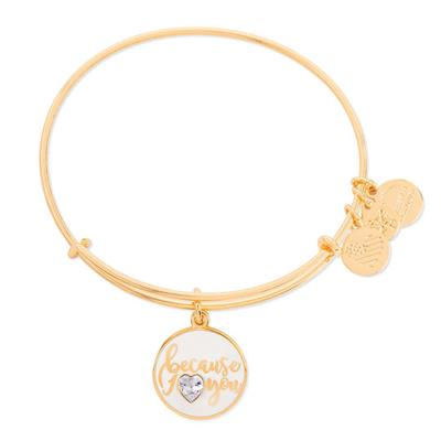 Buy Alex and Ani Because I Love You Swarovski Bangle in Shiny Gold