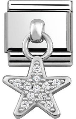 Buy Nomination Silver Hanging Star Charm with CZ Embellishment