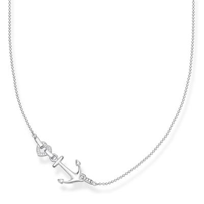 Buy Thomas Sabo Sterling Silver CZ Anchor Necklace