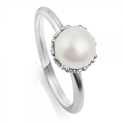 Buy Jersey Pearl Emma-Kate Silver Ring Size L