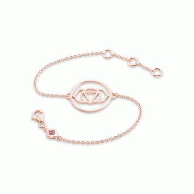Buy Daisy Brow Chakra Rose Gold Chain Bracelet