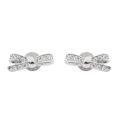 Buy Nomination CZ Bow Earrings