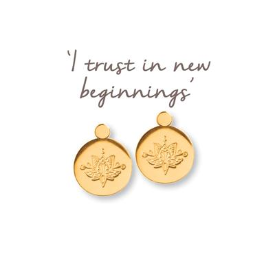 Buy Mantra Lotus New Beginnings Earrings in Gold