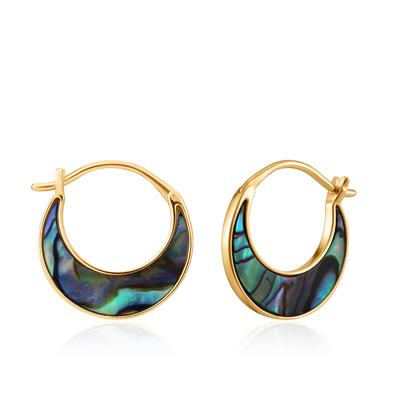 Buy Ania Haie Turning Tides Abalone & Gold Crescent Earrings