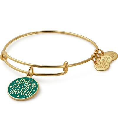 Buy Alex and Ani Joy to the World Colour Infusion Bangle in Shiny Gold