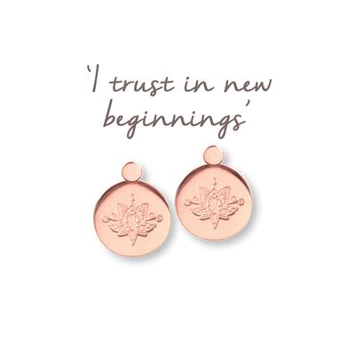 Buy Mantra Lotus New Beginnings Earrings in Rose Gold
