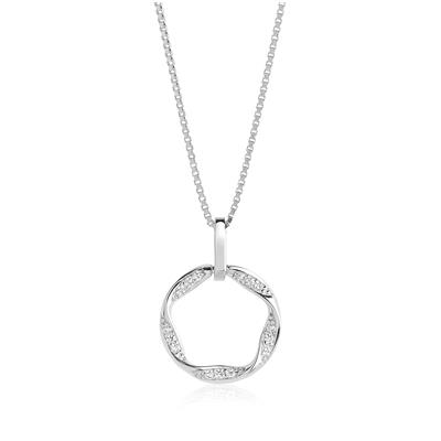 Buy Sif Jakobs Sterling Silver Cetara Piccolo Necklace with White Zirconia - 45cm