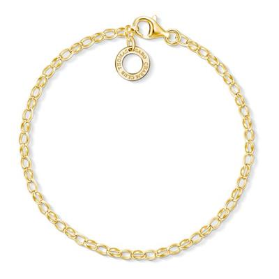 Buy Thomas Sabo Gold Thin Charm Bracelet 15.5cm