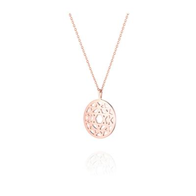 Buy Daisy Heart Chakra Rose Gold Long Necklace