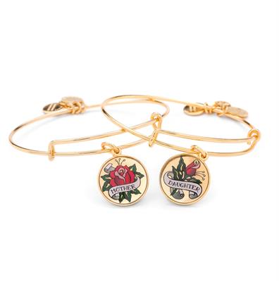 Buy Alex and Ani Unbreakable Bond Bangle Set in Shiny Gold