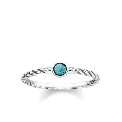 Buy Thomas Sabo Diamond Turquoise Ring 52