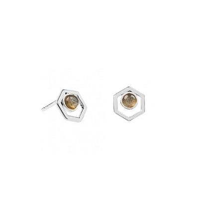 Buy Daisy Labradorite Healing Stone Wellness Stud Earrings