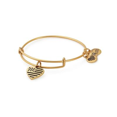 Buy Alex and Ani Heart USA Bangle in Rafaelian Gold