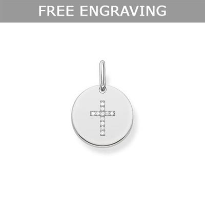 Buy Thomas Sabo CZ Cross Coin Pendant