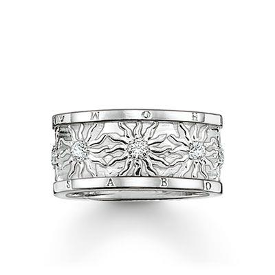 Buy Thomas Sabo Silver CZ Sun Band Ring 52