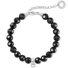 Buy Thomas Sabo Black Adjustable Bracelet