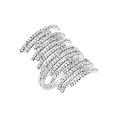 Buy Tresor Paris Metric Rows Crystal Ring Size L