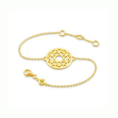 Buy Daisy Heart Chakra Gold Chain Bracelet