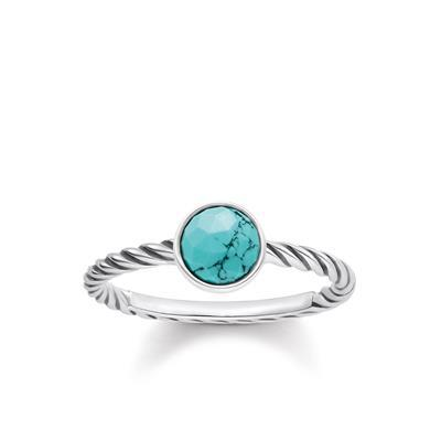 Buy Thomas Sabo Turquoise Twist Ring 54