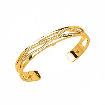 Buy Les Georgettes Thin Gold CZ Liens Cuff Bangle