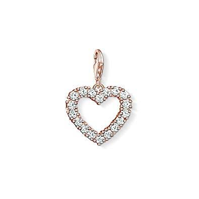 Buy Thomas Sabo Rose Gold CZ Open Heart Charm