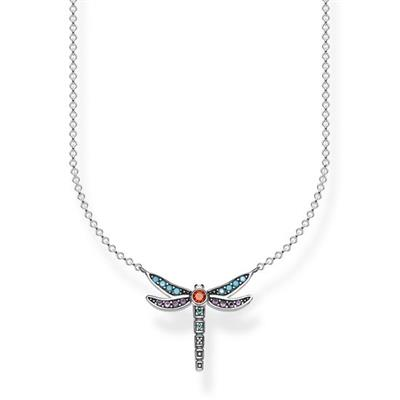 Buy Thomas Sabo Silver Dragonfly Multistone Necklace